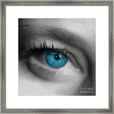 Captivating Glance Framed Print