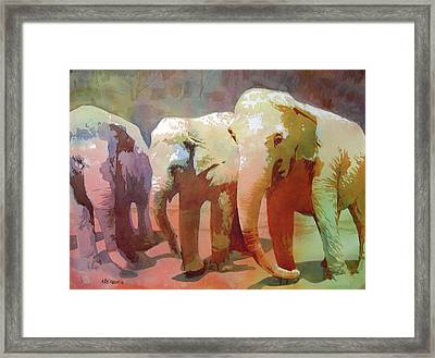 Captive Audience Framed Print by Kris Parins