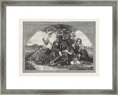 Captive Jews By The Waters Of Babylon Framed Print