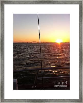 Captree Fall Sunset Framed Print by John Telfer