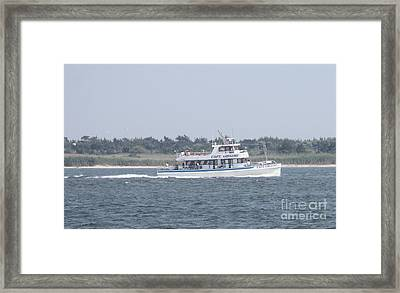 Captree's Captain Gregory Heading Out To Sea Framed Print by John Telfer
