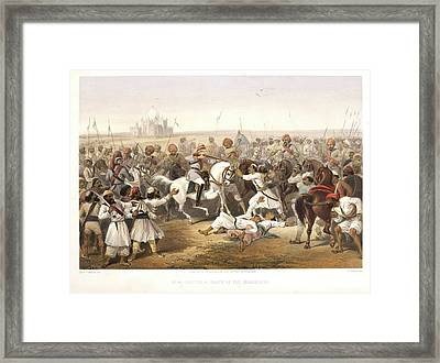 Capture And Death Of The Shahzadaghs Framed Print by British Library