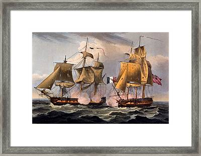 Capture Of Castor Framed Print by Thomas Whitcombe