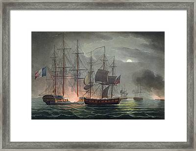 Capture Of La Desiree Framed Print by Thomas Whitcombe