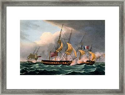 Capture Of La Loire Framed Print by Thomas Whitcombe