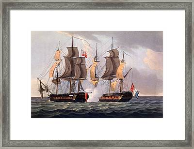 Capture Of La Proserpine Framed Print by Thomas Whitcombe
