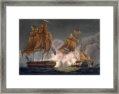 Capture Of La Tribune Framed Print by Thomas Whitcombe