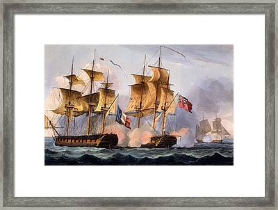 Capture Of Le Desius Framed Print by Thomas Whitcombe