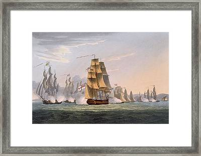Capture Of Le Sparviere Framed Print by Thomas Whitcombe