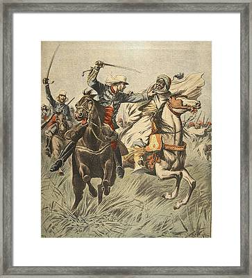Capture Of Samory By Lieutenant Framed Print by French School