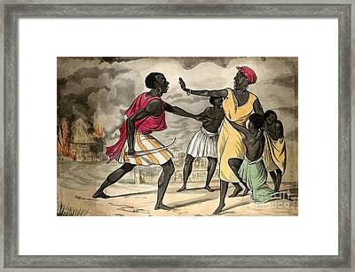 Capture Of Slaves By African Slave Framed Print