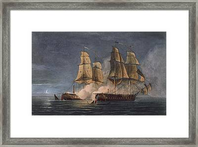 Capture Of The Thetis By Hms Amethyst Framed Print