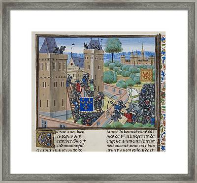 Capture Of Wark Castle Framed Print by British Library