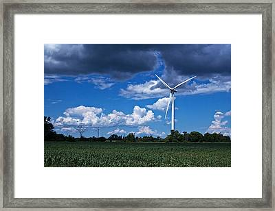 Framed Print featuring the photograph Capture The Wind by Dave Files