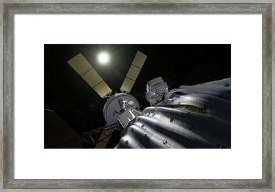 Captured Asteroid Framed Print by Nasa