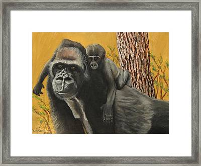 Framed Print featuring the painting Captured Bernigie by Jeanne Fischer