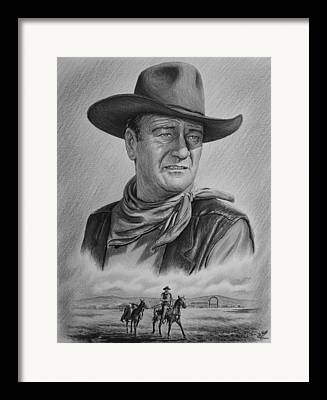 Cowboy Drawing Drawings Framed Prints