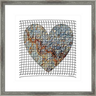 Framed Print featuring the digital art Captured Love- No1 by Darla Wood