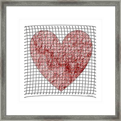 Framed Print featuring the digital art Captured Love- No2 by Darla Wood