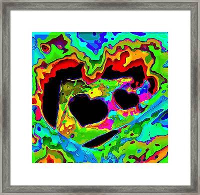 Captured My Heart Framed Print by Rebecca Flaig