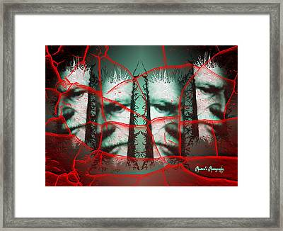 Framed Print featuring the digital art Captured by Sadie Reneau