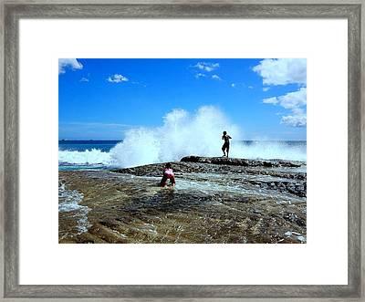 Captured The Moment Framed Print by Imelda Sausal-Villarmino
