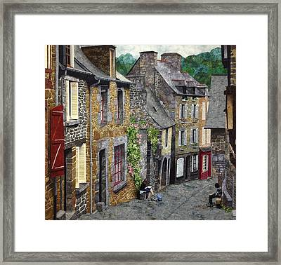 Capturing Brittany Framed Print by Lenore Crawford