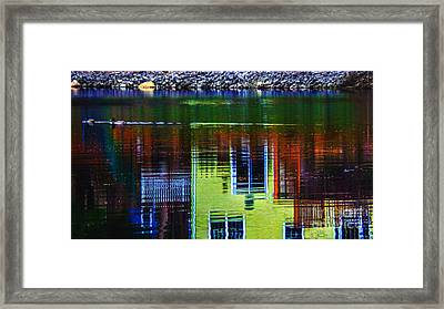 New England Landscape Illusion Framed Print