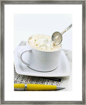 Capuccino Puzzle Framed Print by Cass Peterson