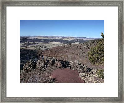 Capulin Volcano  Framed Print by Stephen Schaps