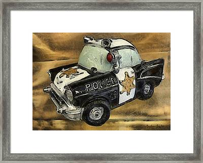 Car 12 Where Are You Framed Print by Barbara Snyder