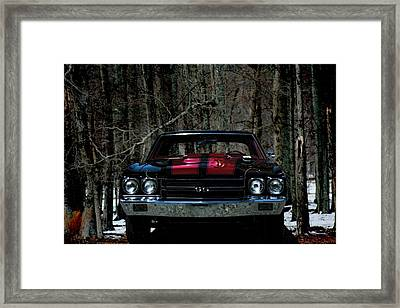 Car Art Chevy Chevelle Ss Hdr Framed Print