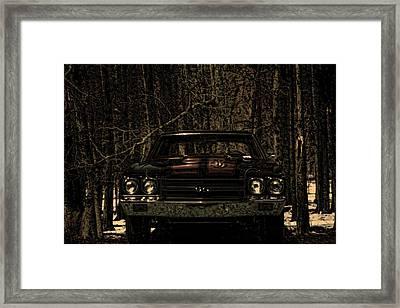 Car Art Chevy Chevelle Ss Moolight Quiet Framed Print