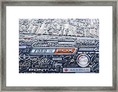 Car Badge Abstract Framed Print