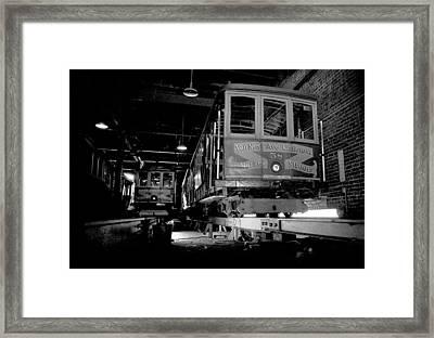 Car Barn Framed Print by Mike Flynn