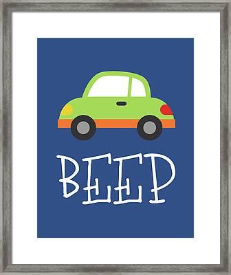 Car Beep Framed Print by Tamara Robinson