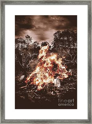 Car Bomb Inferno Framed Print by Jorgo Photography - Wall Art Gallery