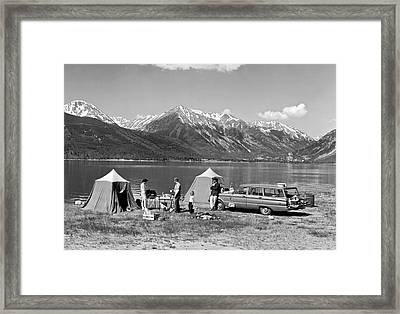 Car Camping In The Rockies Framed Print