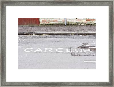 Car Club Parking Framed Print by Tom Gowanlock