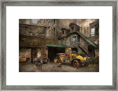 Car - Cour Rue De Valencemm France - A Sunday Afternoon - 1925 Framed Print
