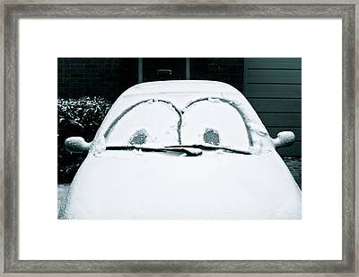 Car Covered In Snow Framed Print by Tom Gowanlock