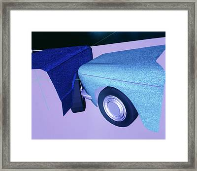 Car Crash Reconstruction Framed Print by Mauro Fermariello/science Photo Library