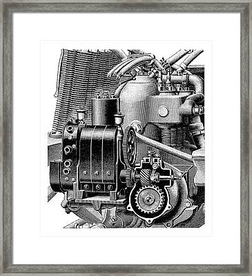 Car Engine And Magneto Framed Print