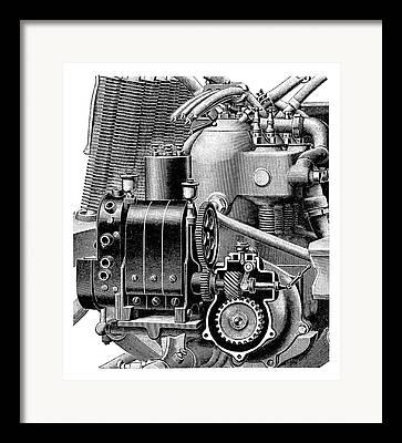 Engine Component Framed Prints