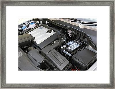 Car Engine Bay Framed Print