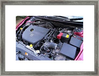 Car Engine Framed Print