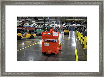 Car Factory Automated Delivery System Framed Print
