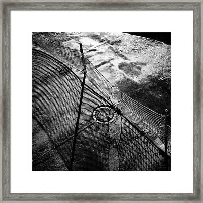 Car Ferry Shadow Framed Print