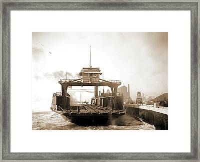 Car Ferry, Transport, Detroit River, Transport Ferry Framed Print by Litz Collection