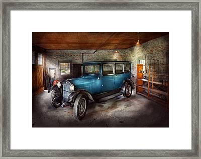 Car - Granpa's Garage  Framed Print by Mike Savad